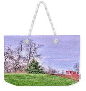 Landscape- Caboose - Little Red Caboose Weekender Tote Bag