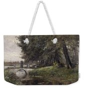 Landscape In Nijmegen. Netherlands Weekender Tote Bag