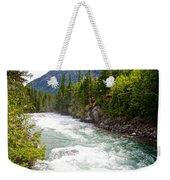 Landscape Of Mcdonald Creek Upstream In Spring In Glacier Np-mt Weekender Tote Bag
