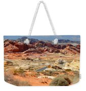 Landscape Of Valley Of Fire State Park Weekender Tote Bag