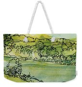Landscape Pen & Ink With Wc On Paper Weekender Tote Bag