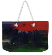 Landscape With A Red Sky Oil On Canvas Weekender Tote Bag
