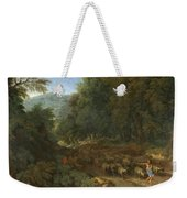 Landscape With A Shepherd And His Flock Weekender Tote Bag