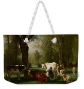 Landscape With Cattle And Sheep Weekender Tote Bag