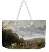 Landscape With Cattle Weekender Tote Bag