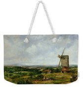 Landscape With Figures By A Windmill Weekender Tote Bag by Frederick Waters Watts