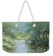 Landscape With Swans Weekender Tote Bag