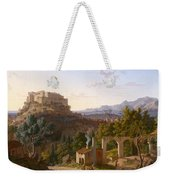 Landscape With The Castle Of Massa Di Carrara Weekender Tote Bag