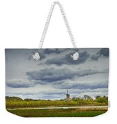 Landscape With The Dezwaan Dutch Windmill On Windmill Island In Holland Michigan Weekender Tote Bag