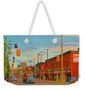 Landsdowne Condos 5th Avenue The Glebe Ottawa Street Scene Paintings Carole Spandau Canadian Art Weekender Tote Bag