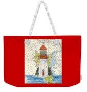 Langara Pt Lighthouse Bc Canada Nautical Chart Map Art Weekender Tote Bag
