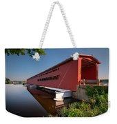 Langley Covered Bridge Michigan Weekender Tote Bag by Steve Gadomski