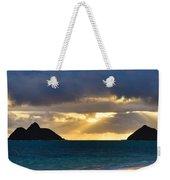 Lanikai Beach Sunrise Panorama 2 - Kailua Oahu Hawaii Weekender Tote Bag