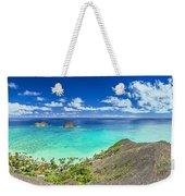 Lanikai Bellows And Waimanalo Beaches Panorama Weekender Tote Bag