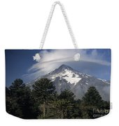 Lanin Volcano And Araucaria Trees Weekender Tote Bag