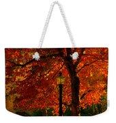 Lantern In Autumn Weekender Tote Bag