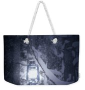 Lantern In Snow Weekender Tote Bag by Joana Kruse