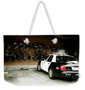 Lapd Cruiser And Police Bikes Weekender Tote Bag by Nina Prommer