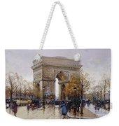 L'arc De Triomphe Paris Weekender Tote Bag by Eugene Galien-Laloue