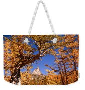 Larch Trees Frame Prusik Peak Weekender Tote Bag
