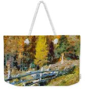Larches In Autumn Weekender Tote Bag