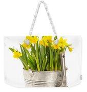 Large Bucket Of Daffodils Weekender Tote Bag by Amanda Elwell