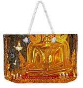Large Buddha Image In Wat Tha Sung Temple In Uthaithani-thailand Weekender Tote Bag