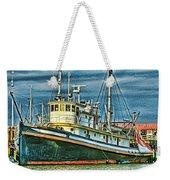 Large Fishing Boat Hdr Weekender Tote Bag