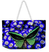 Large Green Butterfly Weekender Tote Bag