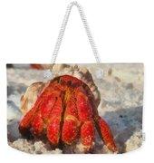 Large Hermit Crab On The Beach Weekender Tote Bag