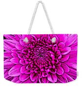 Large Pink Dahlia Retro Style Weekender Tote Bag