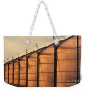 Large Scale Industrial Greenhouse Lit By Sunet Weekender Tote Bag