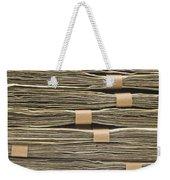 Large Stack Of American Cash Money Weekender Tote Bag