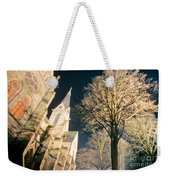 Large Stone Church At Night Weekender Tote Bag