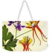 Larkspur And Columbine Weekender Tote Bag
