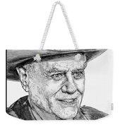 Larry Hagman In 2011 Weekender Tote Bag by J McCombie