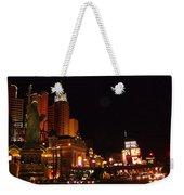 Las Vegas At Midnight Weekender Tote Bag