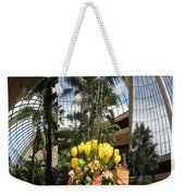 Las Vegas Attrium Architecture N Interior Decorations Casinos Resorts Hotels Flowers Sky Green Signa Weekender Tote Bag
