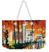 Las Vegas - Palette Knife Oil Painting On Canvas By Leonid Afremov Weekender Tote Bag
