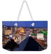 Las Vegas Skyline Weekender Tote Bag by Brian Jannsen