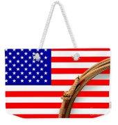 Lasso And American Flag Weekender Tote Bag