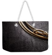 Lasso On Leather Weekender Tote Bag by Olivier Le Queinec