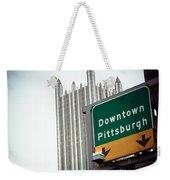 Last Exit Pittsburgh Weekender Tote Bag