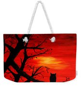 Last Leaves Of Autumn Weekender Tote Bag