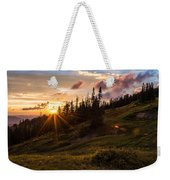 Last Light At Cedar Weekender Tote Bag by Chad Dutson