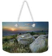 Last Light At The Windy Mountains Weekender Tote Bag