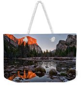 Last Light At Valley View Weekender Tote Bag