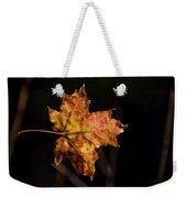 Last Maple Leaf Weekender Tote Bag