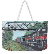 Last Train Under The Bridge Weekender Tote Bag by Cliff Wilson