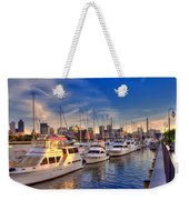 Late Afternoon At Constitution Marina - Charlestown Weekender Tote Bag